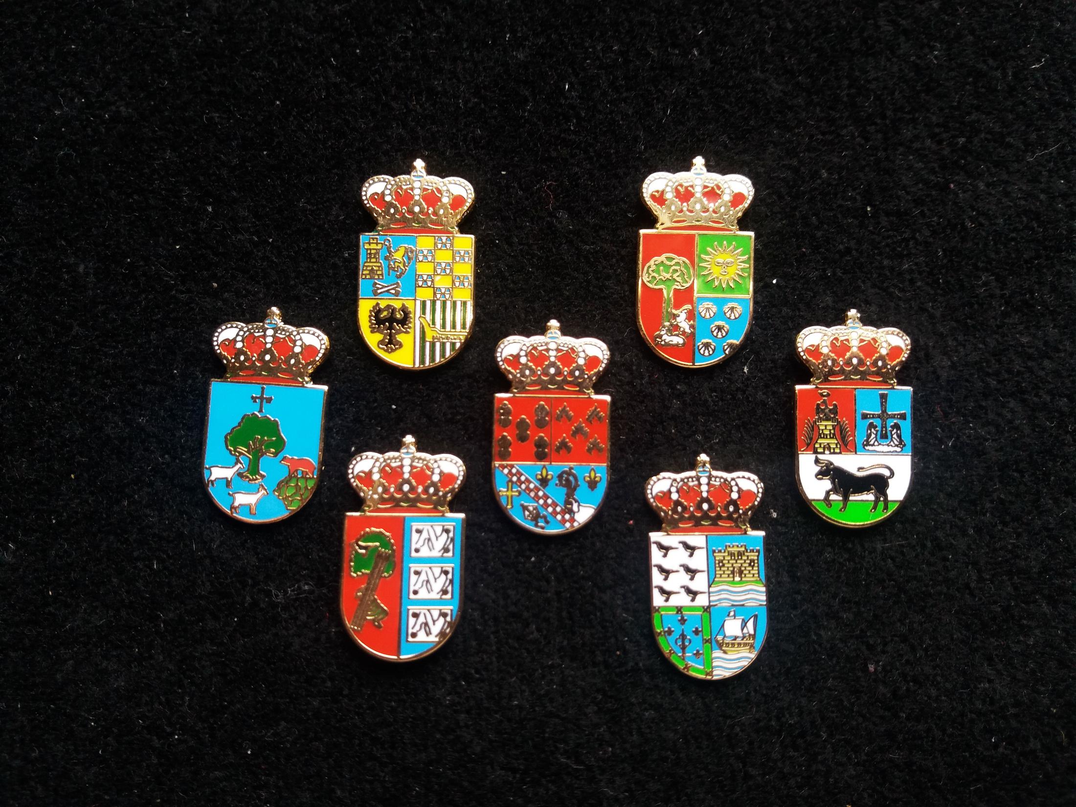 Cabrales, Cabranes, Candamo, Bimenes, Boal and Soto del Barco heraldic pins
