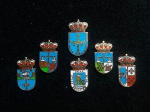 Asturias, Ribadedeva, Proaza, ibias, Langreo and Ponga heraldic pins